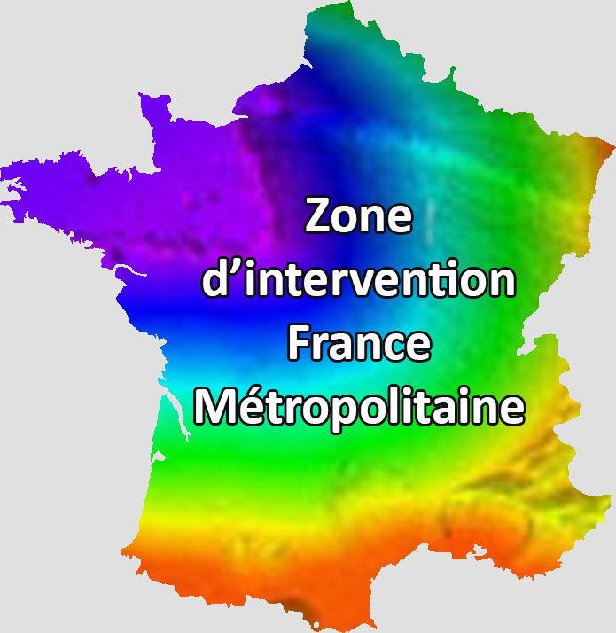 Zone d'intervention France Métropolitaine